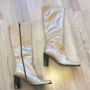 Kenneth Cole Tan Leather Tall High Boots